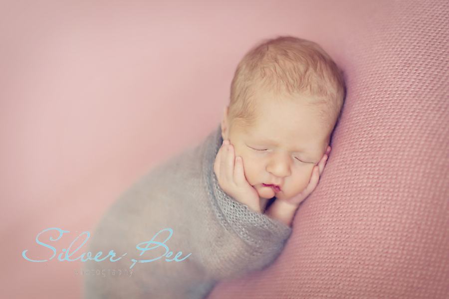 baby girl sleeping, pink and gray, Steiner Ranch