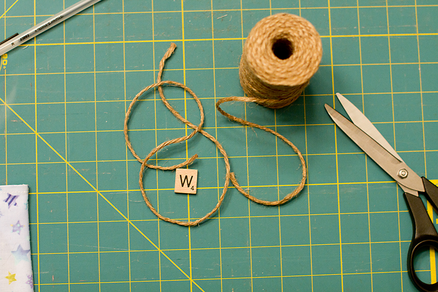 jute twine and scrabble letter for photographers cd cover