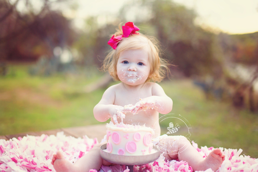 Austin Cake Smash Photographer for one year olds