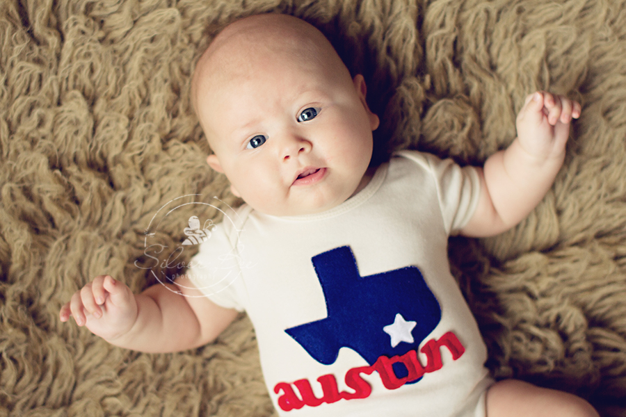 Austin Texas three month old milestone baby session in Cedar Park