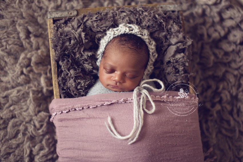 Newborn Session Photo: Soft Textures