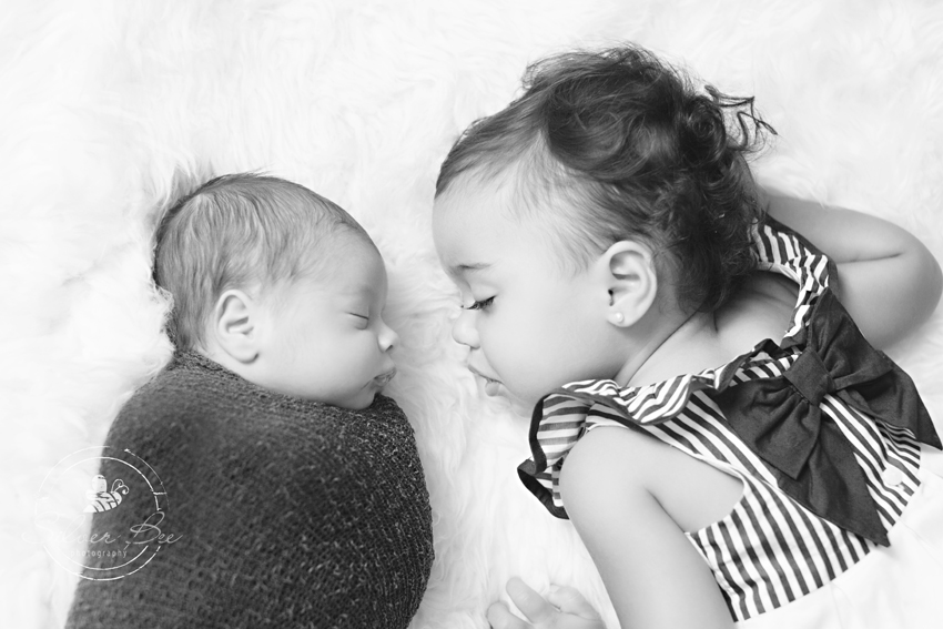 Newborn and sibling Photography
