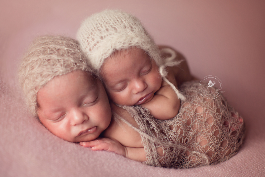 Identical Twin Newborn Photos